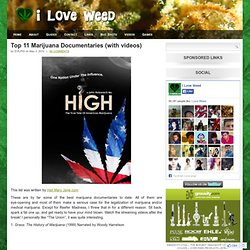 Top 11 Marijuana Documentaries