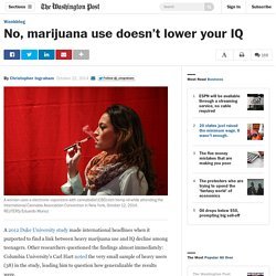 No, marijuana use doesn't lower your IQ