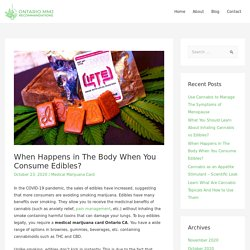 How Marijuana Edibles Are Processed in The Body