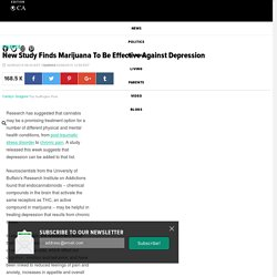 New Study Finds Marijuana To Be Effective Against Depression