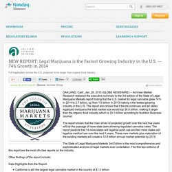 NEW REPORT: Legal Marijuana is the Fastest Growing Industry in the U.S.