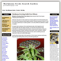 Marijuana Growing Guide Free Library