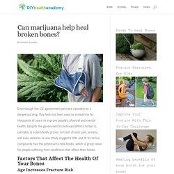 Can marijuana help heal broken bones?