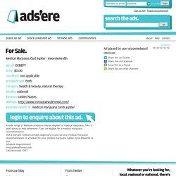 Medical Marijuana Card Jupiter - InnovateHealth, For Sale in Jupiter, United States