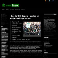 Historic U.S. Senate Hearing on Marijuana Legalization