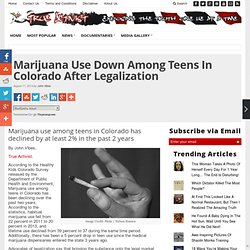 Marijuana Use Down Among Teens In Colorado After Legalization