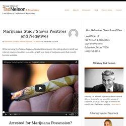 Marijuana Study Shows Positives and Negatives