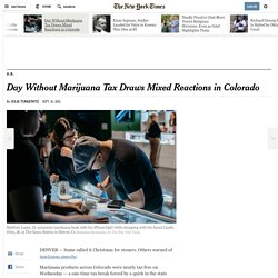 Day Without Marijuana Tax Draws Mixed Reactions in Colorado