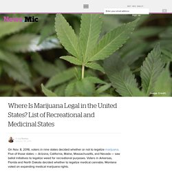 Where Is Marijuana Legal in the United States? List of Recreational and Medicinal States