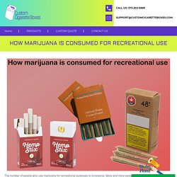 How marijuana is consumed for recreational use