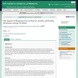The Impact of Marijuana Use on Glucose, Insulin, and Insulin Resistance among US Adults - The American Journal of Medicine