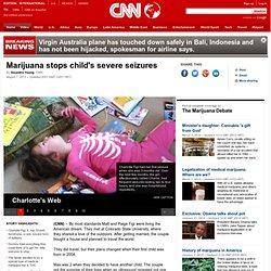 Marijuana stops child's severe seizures