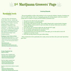 Marijuana use - Smoking Etiquette - StumbleUpon