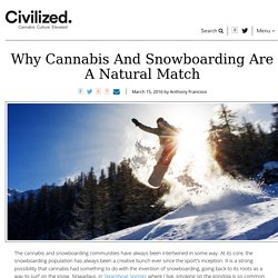 Why Marijuana And Snowboarding Are A Natural Match