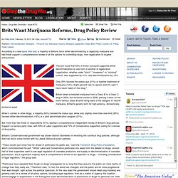 Brits Want Marijuana Reforms, Drug Policy Review