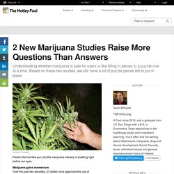 2 New Marijuana Studies Raise More Questions Than Answers