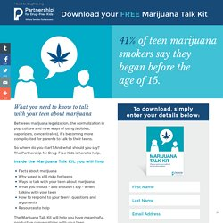Marijuana Talk Kit for Parents