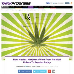 How Medical Marijuana Went From Political Poison To Popular Policy