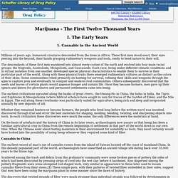 Marijuana - The First Twelve Thousand Years - 1. Cannabis in the Ancient World