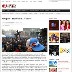 Marijuana Troubles in Colorado