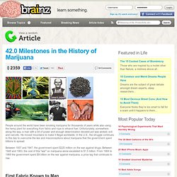 Marijuana (Weed) History and Facts