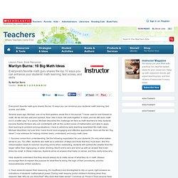 Marilyn Burns: 10 Big Math Ideas