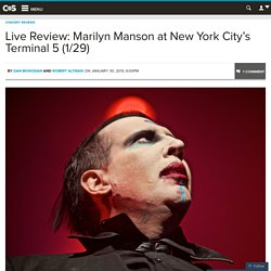 Live Review: Marilyn Manson at New York City's Terminal 5 (1/29)