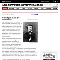 On Edgar Allan Poe by Marilynne Robinson