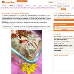Marinades de viande - Marinades