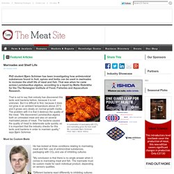 MEATSITE 08/10/09 Marinades and Shelf Life