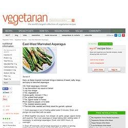 East-West Marinated Asparagus Recipe