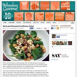 Marinated Roasted Cauliflower Salad