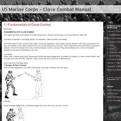 US Marine Corps - Close Combat Manual: 1 - Fundamentals of Close Combat
