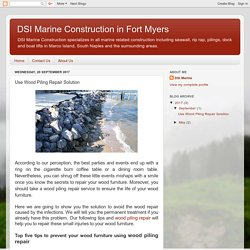 DSI Marine Construction in Fort Myers: Use Wood Piling Repair Solution