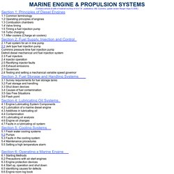 MARINE ENGINE SYSTEMS