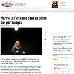 Marine Le Pen rame dans sa pêche aux parrainages