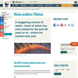 Marine problems: Pollution