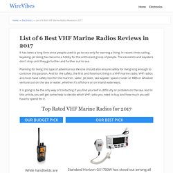 List of 6 Best VHF Marine Radios Reviews in 2017