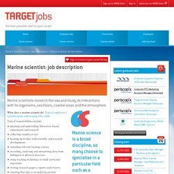 Marine scientist: job description