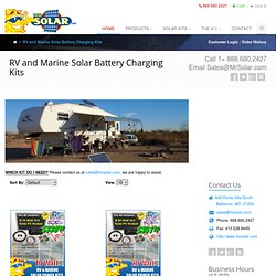 RV Solar Power | RV Solar Panel Kits | Marine Solar Kits: MrSolar.com | Solar Power Products | Solar Panels | Solar Power Systems