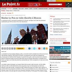 Marine Le Pen en visite discrète à Moscou