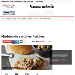 Marinée de sardines fraîches