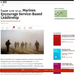 How the U.S. Marines Encourage Service-Based Leadership