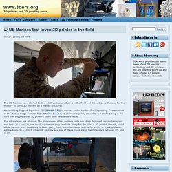 US Marines test Invent3D printer in the field
