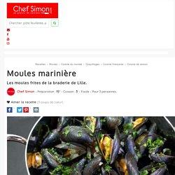 Moules marinières - recette des moules à la marinière (et frites fraîches, comme à la braderie de lille). - Recette par Chef Simon