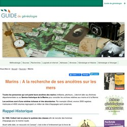 Marins : A la recherche de ses ancêtres sur les mers