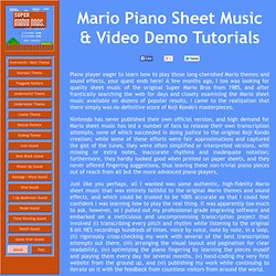 Mario Piano Sheet Music - Original Quality