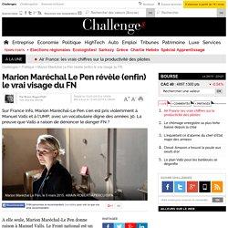 Marion Maréchal Le Pen révèle (enfin) le vrai visage du FN