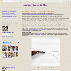 Marion Jewels in Fiber - News and Such: Peyote Stitch - The FAST & Sometimes Frustrating Method