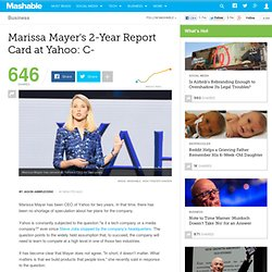 Marissa Mayer's 2-Year Report Card at Yahoo: C-